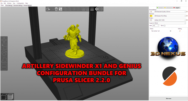 Artillery Sidewinder X1 And Genius: Prusa Slicer Settings Bundle UPDATED